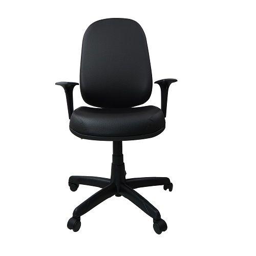 Cadeira Giratoria Presidente Operativa Plus Back System com Braço Corino Preto