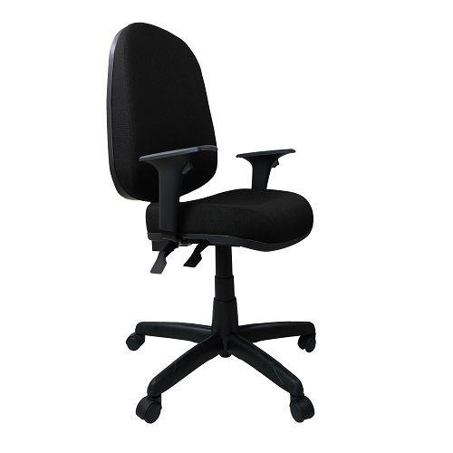 Cadeira Giratoria Presidente Operativa Plus Back System com Braço Tecido Preto