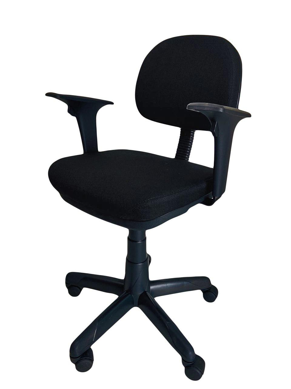 Cadeira Giratoria Secretaria Operativa Plus com Braço Tecido Preto