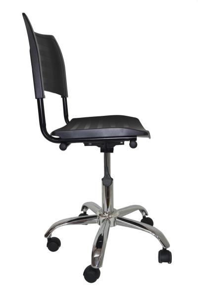 Cadeira Giratoria Turim Secretaria Cromada