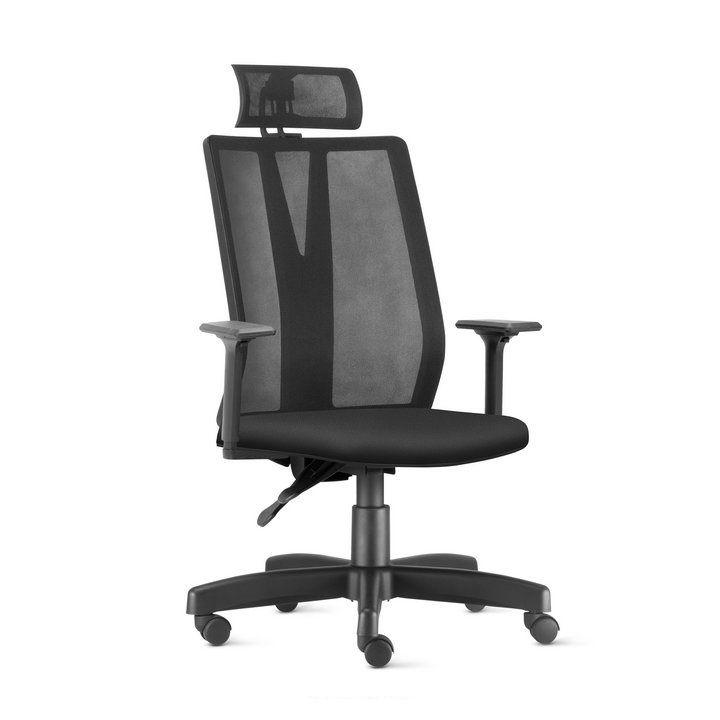 Cadeira Presidente Addit Back System com Encosto de Cabeça