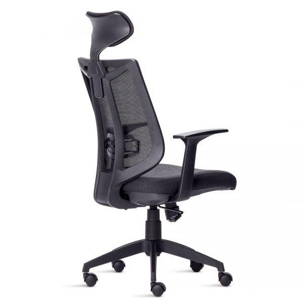 Cadeira Presidente Aika Tela com Encosto de Cabeça Preta