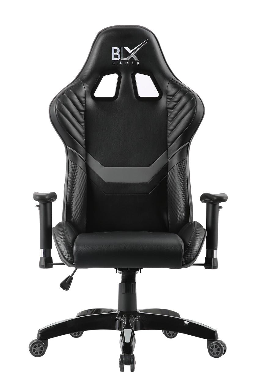 Cadeira Presidente Giratória Gamer Cinza/Preto