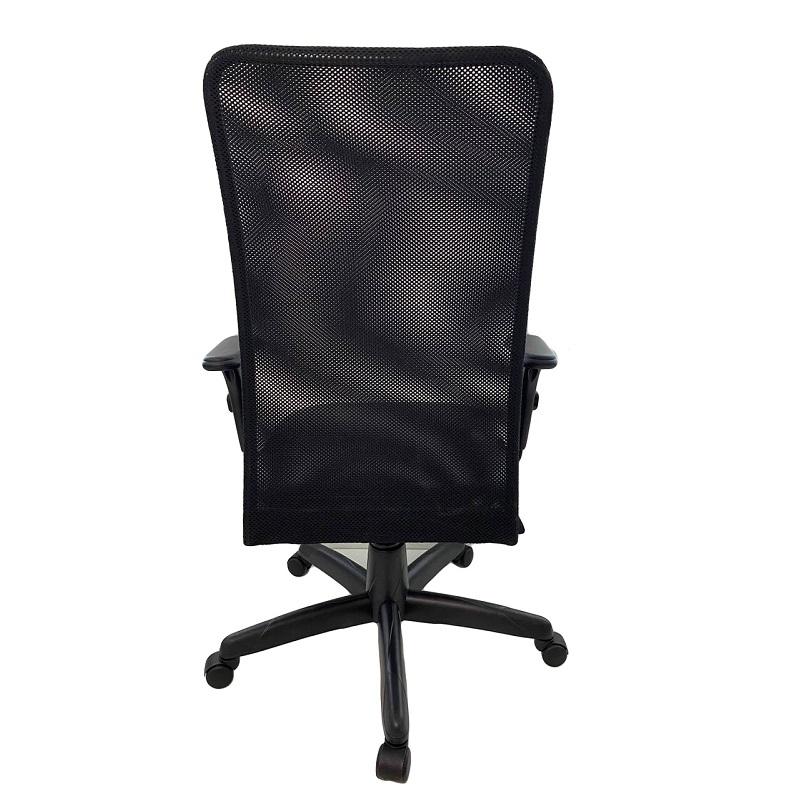 Cadeira Presidente Jupter Tela com Braço Regulável Preto