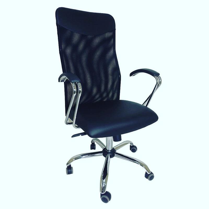 Cadeira Presidente Netuno Tela com Braço CR Preto