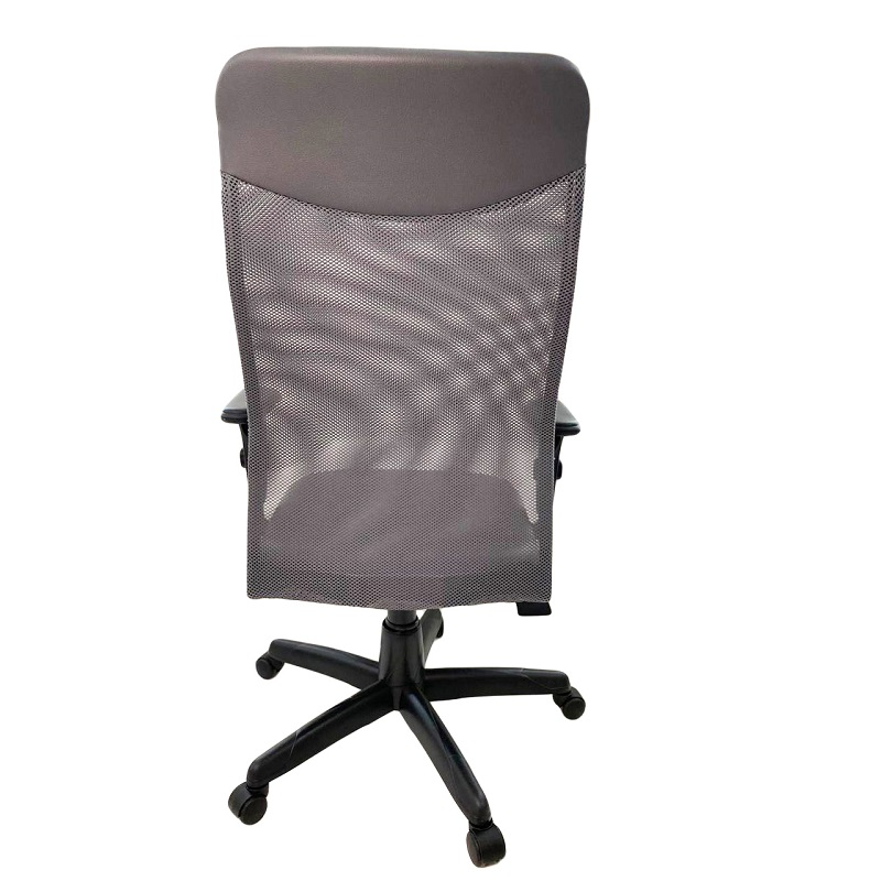 Cadeira Presidente Netuno Tela com Braço Regulável Cinza
