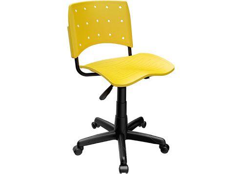 Cadeira Secretária Giratória Ergoplax+ Amarela