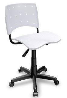 Cadeira Secretária Giratória Ergoplax+ Branca
