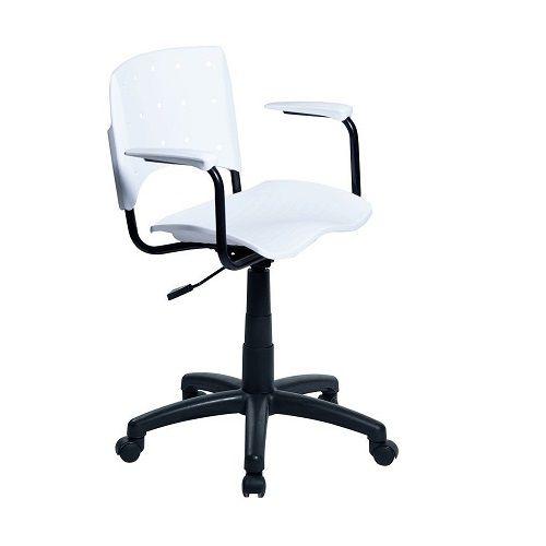 Cadeira Secretária Giratória Ergoplax+ com Braço Branca