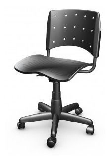 Cadeira Secretária Giratória Ergoplax+ PRETA
