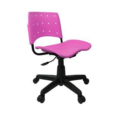 Cadeira Secretária Giratória Ergoplax+ Rosa
