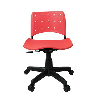 Cadeira Secretária Giratória Ergoplax+ Vermelha