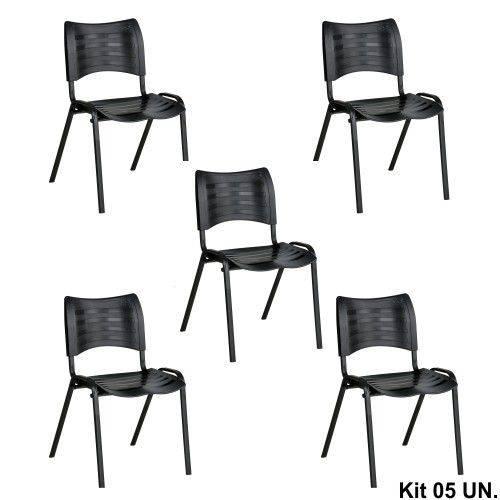 Cadeira Secretaria Turim Fixa (kit 5 Peças)
