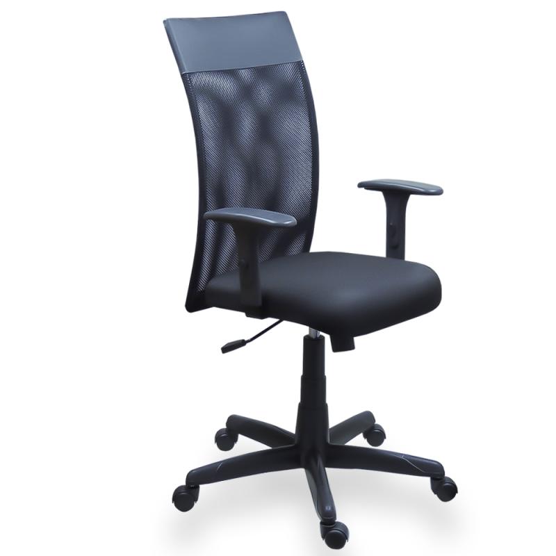 Cadeira Vênus Presidente em Tela Mesh com Braço Regulável