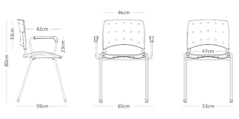 Cadeira Secretaria Ergoplax Fixa