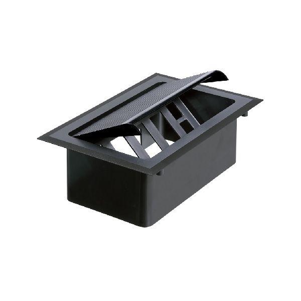 Caixa de Tomada Preta para Mesa