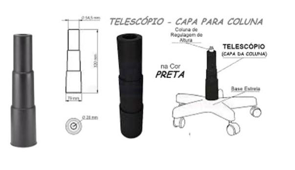Capa Telescopica 3 Estagios para Pistao