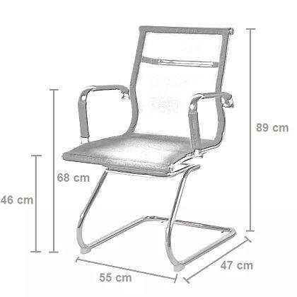 Kit 2 Cadeiras Fixa Diretor Charles Eames Preta