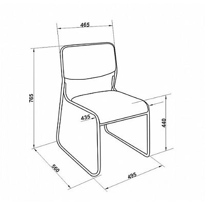 Kit 4 Cadeira Fixa Dakar Preta