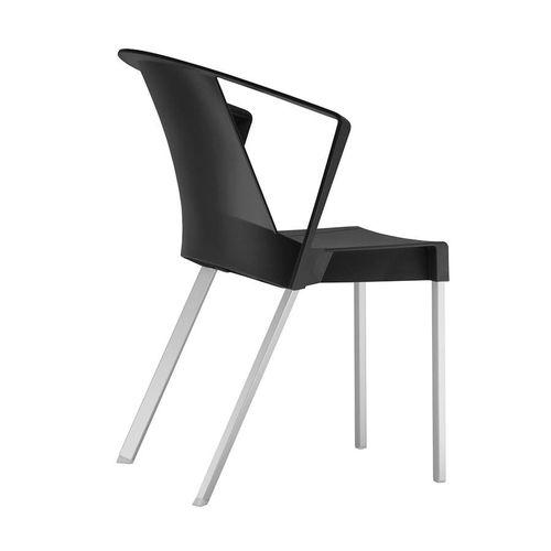 Kit 4 Cadeira Shine com Braço Preta