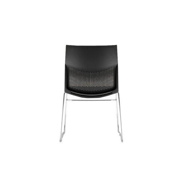 Kit 4 Cadeiras Connect Preta com base Cromada