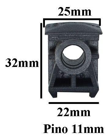 Kit 5 Buchas para Rodizio de cadeira 25x25 Pino 11mm