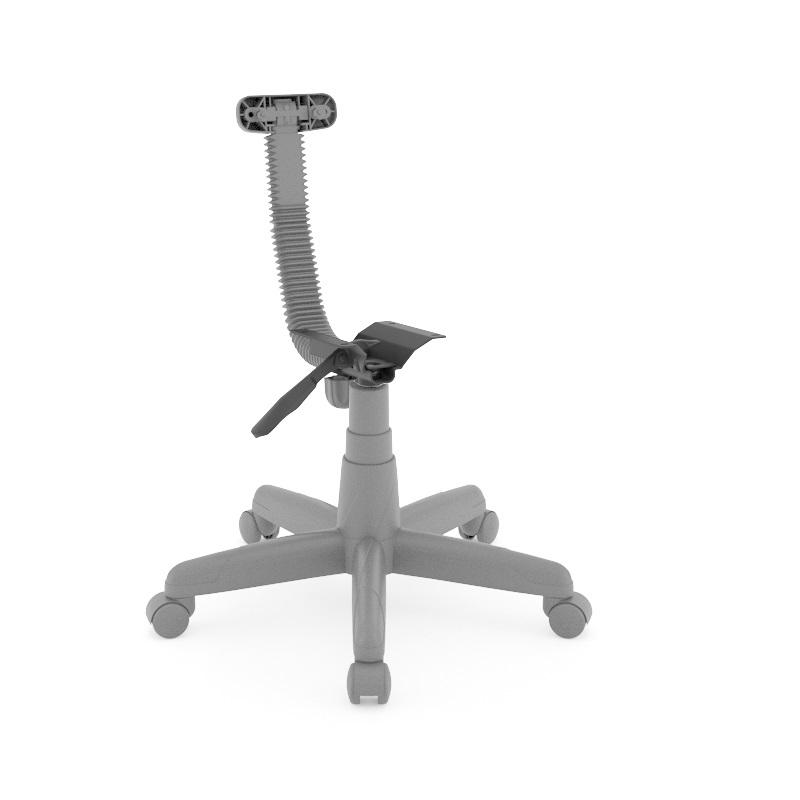Kit Base para Cadeira Secretária com L Cinza