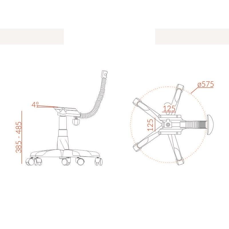 Kit Base para Cadeira Secretária com L Preta