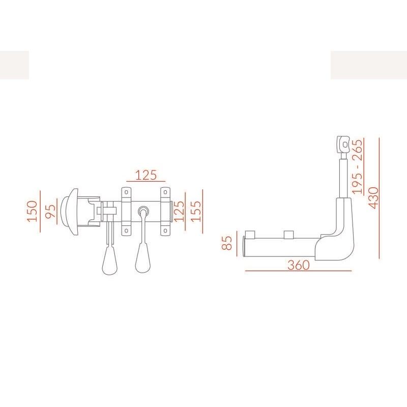 Mecanismo de Fixação do Assento ao Ancosto Back System Cinza