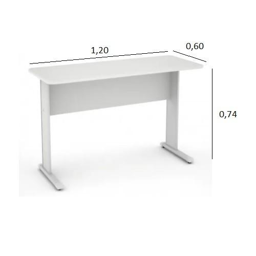 Mesa de Escritório Slim 1,20 x 0,60 Branco