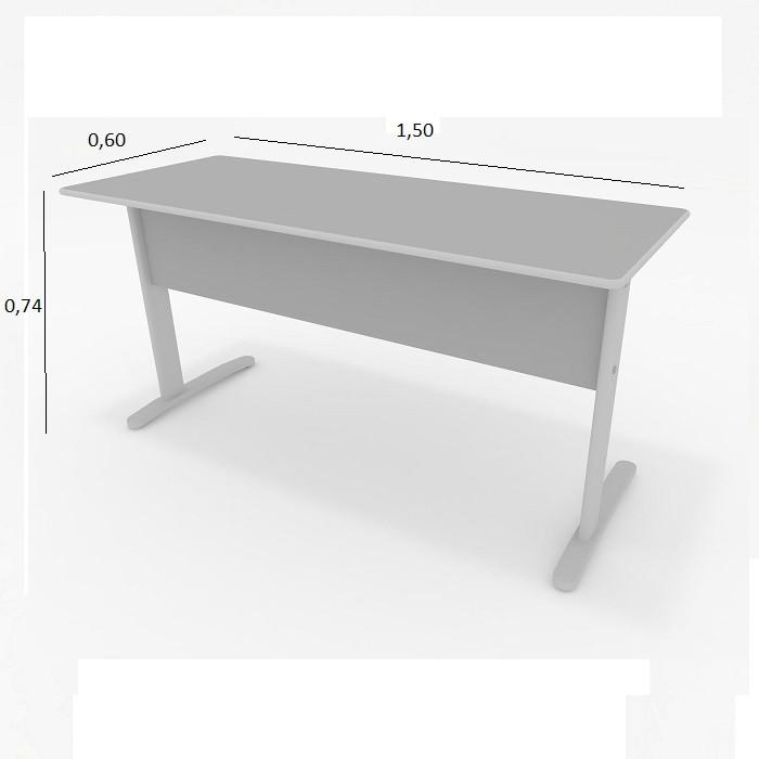 Mesa de Escritório Slim 1,50 x 0,60 Cinza