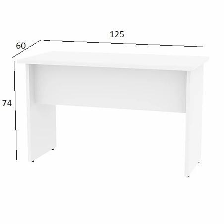 Mesa de Escritório Treviso 1,25 x 0,60 Branco