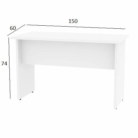 Mesa de Escritório Treviso 1,50 x 0,60 Branco