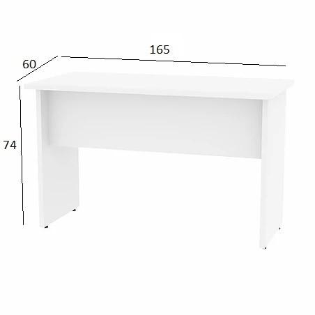 Mesa de Escritório Treviso 1,65 x 0,60 Branco