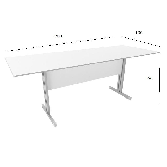 Mesa de Reunião Slim 2,00 x 1,00 Branco