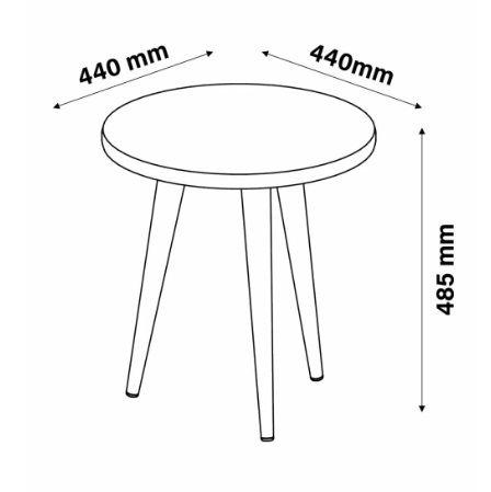 Mesa Lateral Redonda Legs Branco