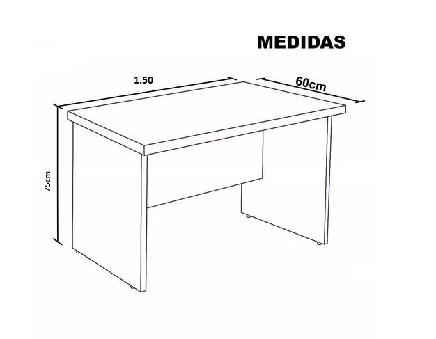 Mesa Reta Executiva 1,50 x 0,60