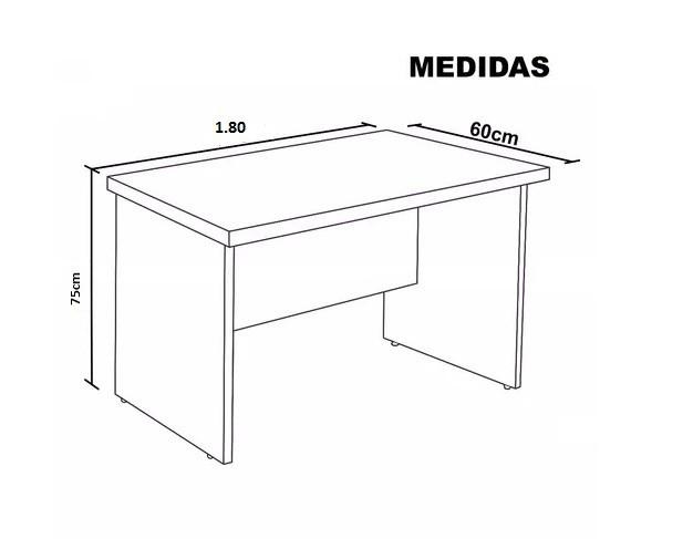 Mesa Reta Executiva 1,80 x 0,60