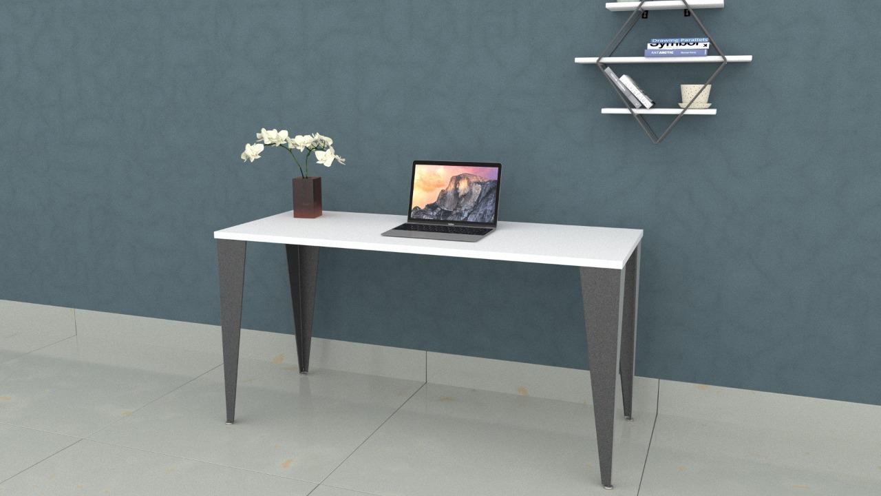 Mesa Steel 1,20 x 0,60 Branca