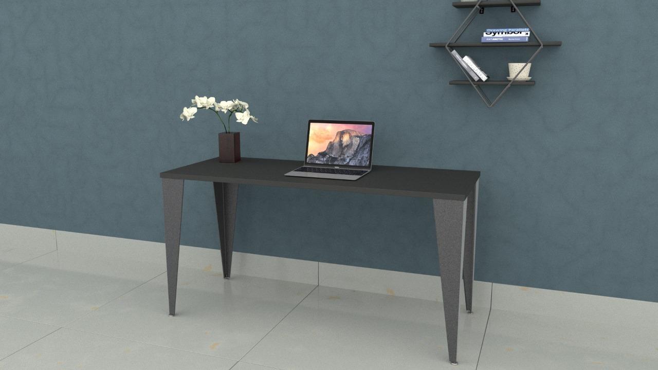 Mesa Steel 1,50 x 0,60 Preta