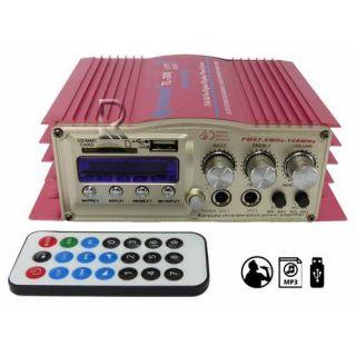 Amplificador Processador Som USB SD FM 2 Canais Propaganda Carro Moto