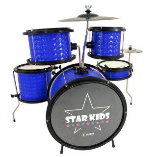 Bateria Luen 44000a Star Kids Infantil Azul