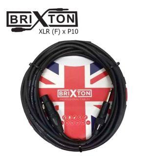 Cabo Microfone Brixton Bc303 3m Embo.P10 Cannon Xlrf