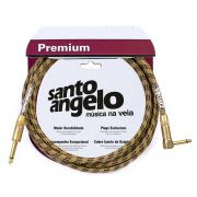 Cabo Santo Angelo 12619 Vintage L 15ft Plg90° 4,57m Tecido Textil.P10 P/Inst.Metal