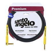 Cabo Santo Angelo 13128 Shogun L 15ft Plg90° 4,57m Embo.P10 P/Inst.Metal Preto