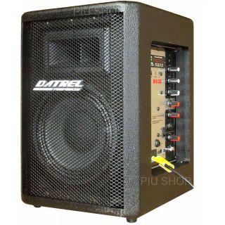 Caixa Amplificada Datrel At8100blu Bluetooth Usb/Sd/Fm Front.2v.F8 C/Cont.Remoto Ativa Alim.Pass.100wrms