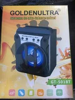 Caixa Amplificada Golden Ultra Gu501bt Blut.Usb/Sd/Fm,3falantes, C/Bateria,S/Fonte