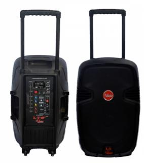 Caixa Amplificada Leacs Lt12 Abs Bluet Usb/Sd/Fm,Fal12 Roda Cont.Rem.Ativa 200wrms