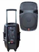 Caixa Amplificada Leacs Lt15 Abs Bluet Usb/Sd/Fm,Fal15 Roda Cont.Rem.Ativa 300wrms