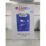 Caixa Amplificada Livstar CNN409SP BLUE.USB/SD/FM FAL5.25 5Wrms
